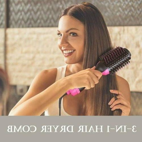 3-in-1 Anion Hair Dryer Comb Blow Curler Straightener