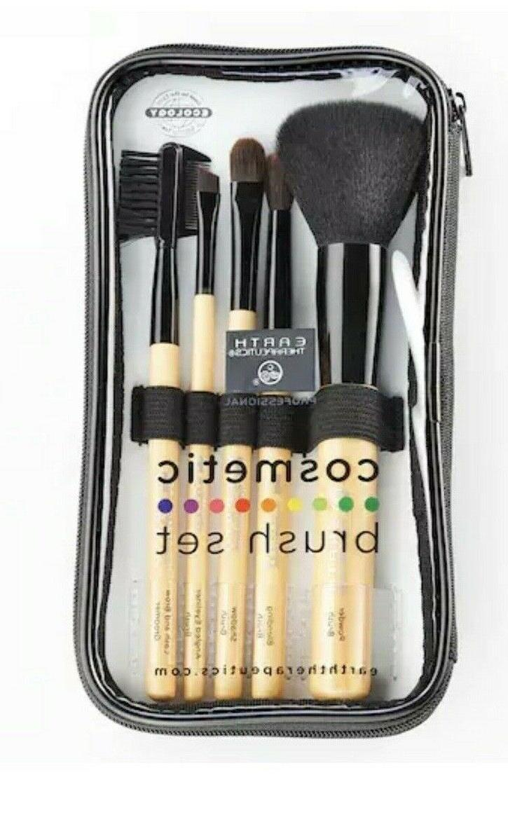 Earth Therapeutics 5 Piece Cosmetic / Makeup Brush Set In Pl