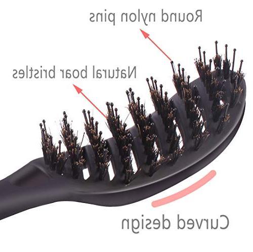 Boar Bristle Hair Brush, Detangling Drying Brush, for Women Long, ,Tangled