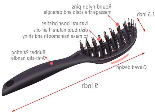 Boar Brush, Curved Blow Drying for Long, ,Tangled