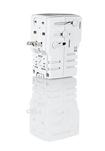 Travel All-In-One Adapter Combo Unit-US Europe Italy