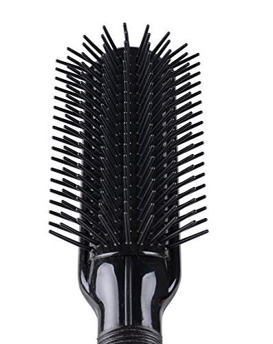 Kent AS9 9 Row Rubber Nylon Pad, Quill, Anti-Static Hairbrush