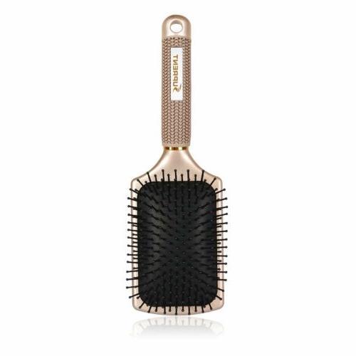 B SUPRENT Velvet Touch Paddle Hair Brush, Detangling Brush F