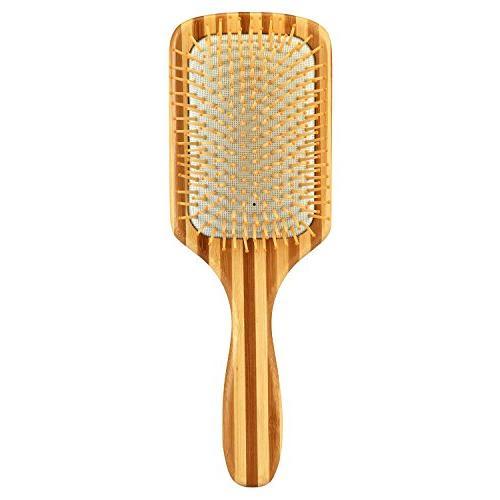 bamboo paddle hair brush detangling