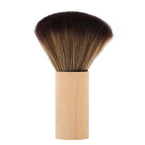 barber cleaning hairbrush hair sweep