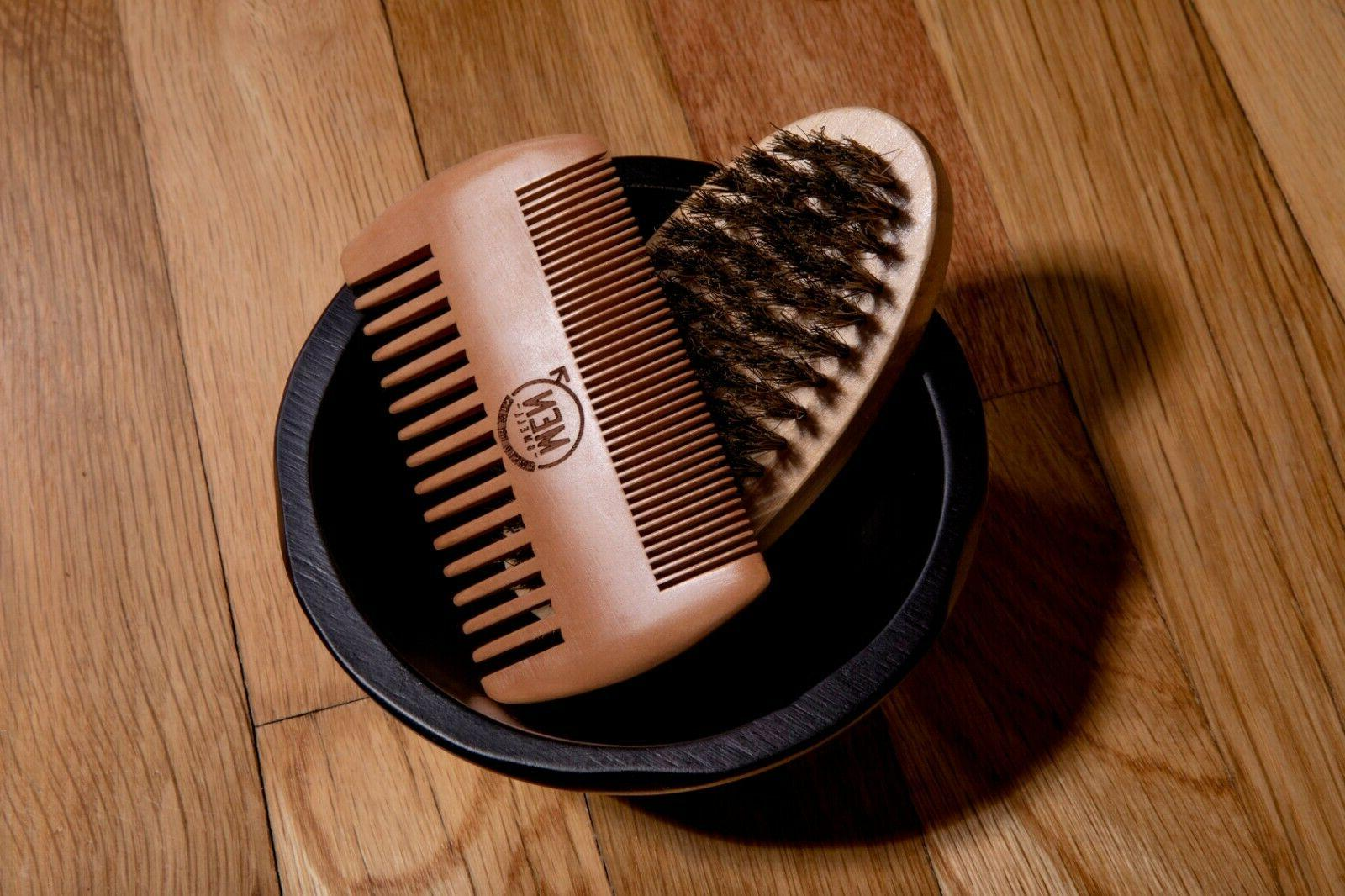 Beard - Mustache Brush Brush - Boar Hair Bristle