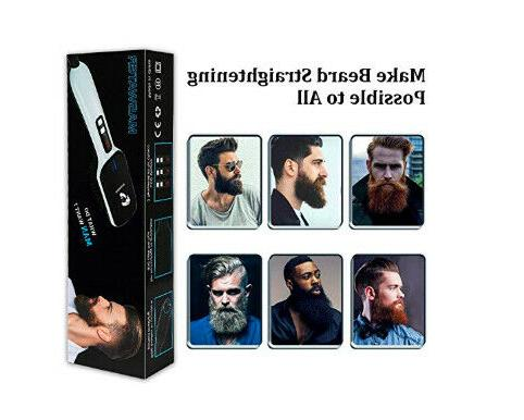 Beard Straightener Electric Facial Comb Heated