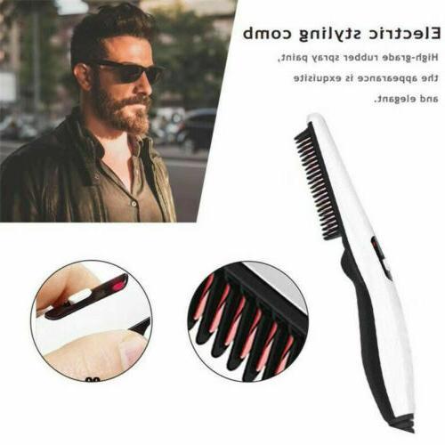 Beard Heated Brush Styler Mens Pro