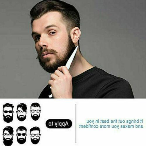 Beard Straightener Heated Brush Mens Pro Hair