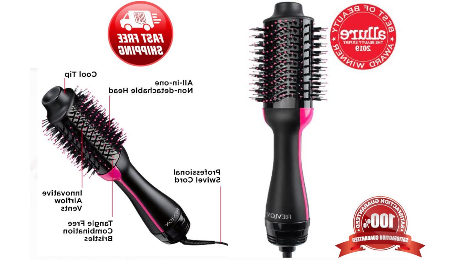 Black Revlon Hot Air One Step Hair Styler Volumizer