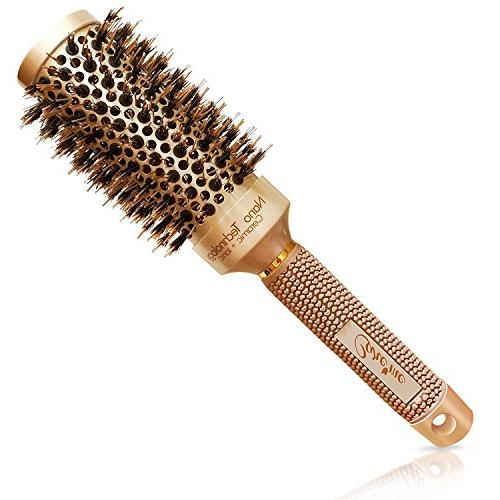 Blow-dry brush with Natural Bristles Salon-Like Blowouts | - for Hair Want Bounce