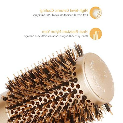 Blowout Round Barrel Hair with Roller Hairbrush for Blow Drying,