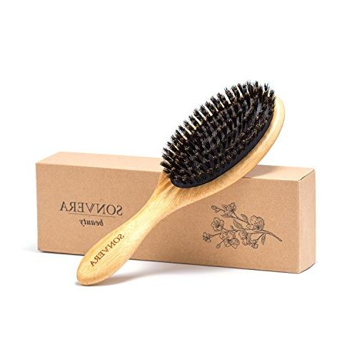 Hair pure boar bristle hair mens hair boars brushes for brush for fine hair,soft wooden hard bristle hair