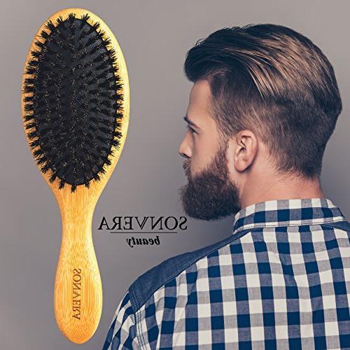 Hair pure bristle brush, hair brush for boars boar brush,hair brushes brush fine hair,soft wooden hard
