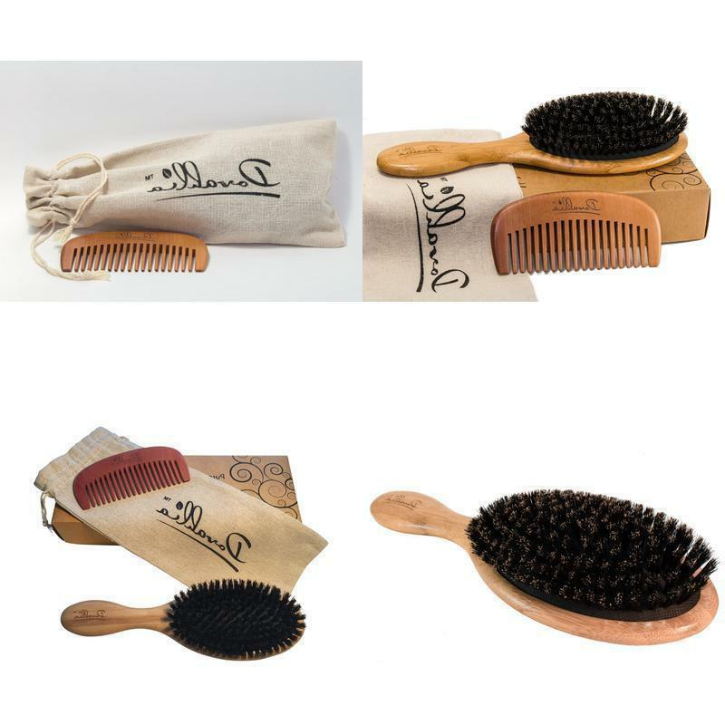 Boar Bristle Hair Brush Dovahlia Set for Women and Men for T