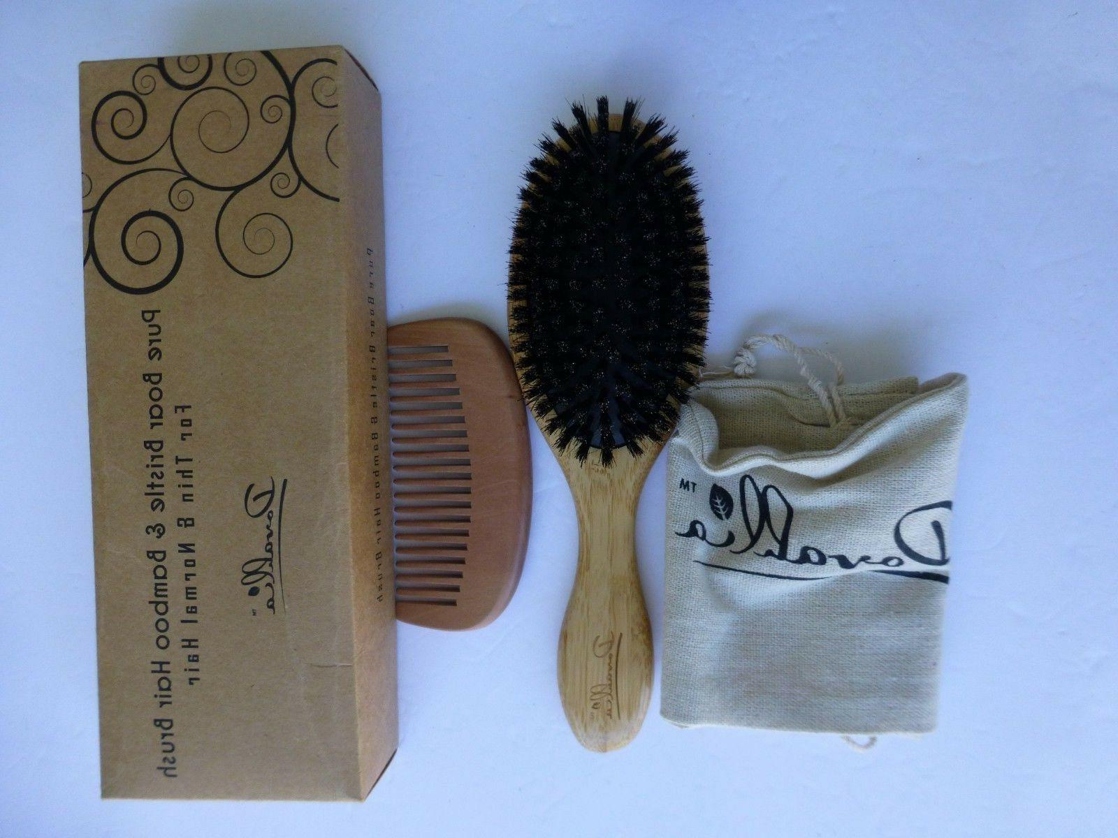 boar bristle hair brush set for women