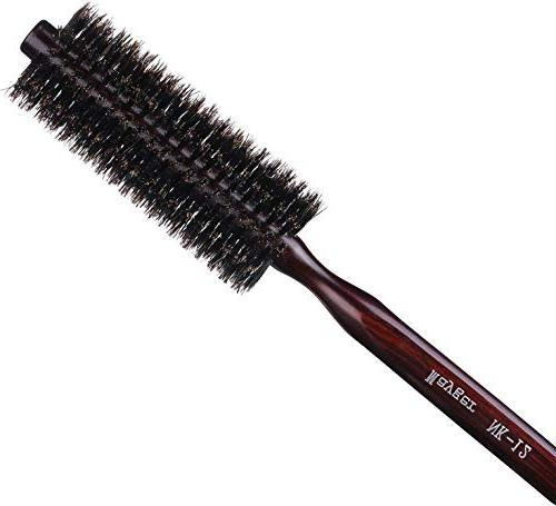 Boar Round Hair Brush Natural Wood inch, for Hair Styling, Adding Volume