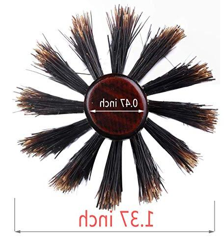Boar Hair Brush inch, Hair Drying, Styling, Curling, Volume and Scalp Massage