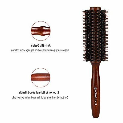 Boar Bristles Hair With Wood Handle, Round