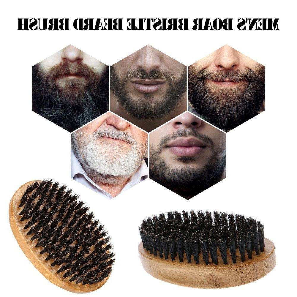 Men Boar Hair Beard Mustache Soft Round