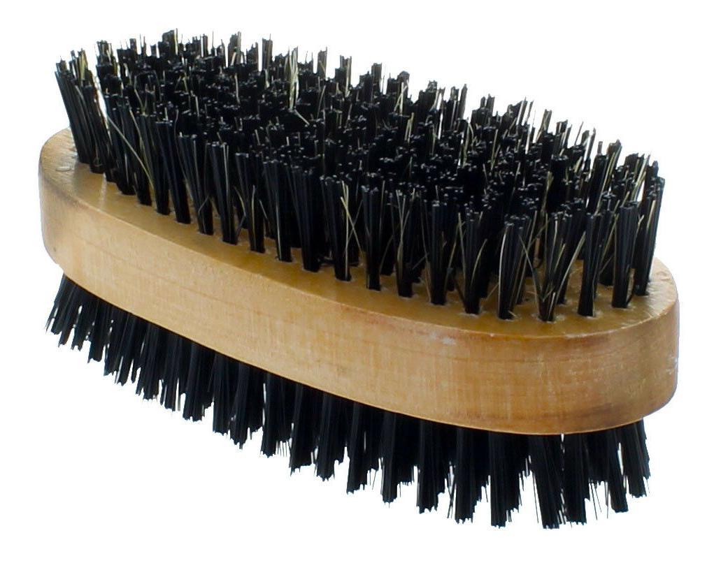 Men Boar Hair Bristle Beard Brush Soft Hard Palm Wood Handle