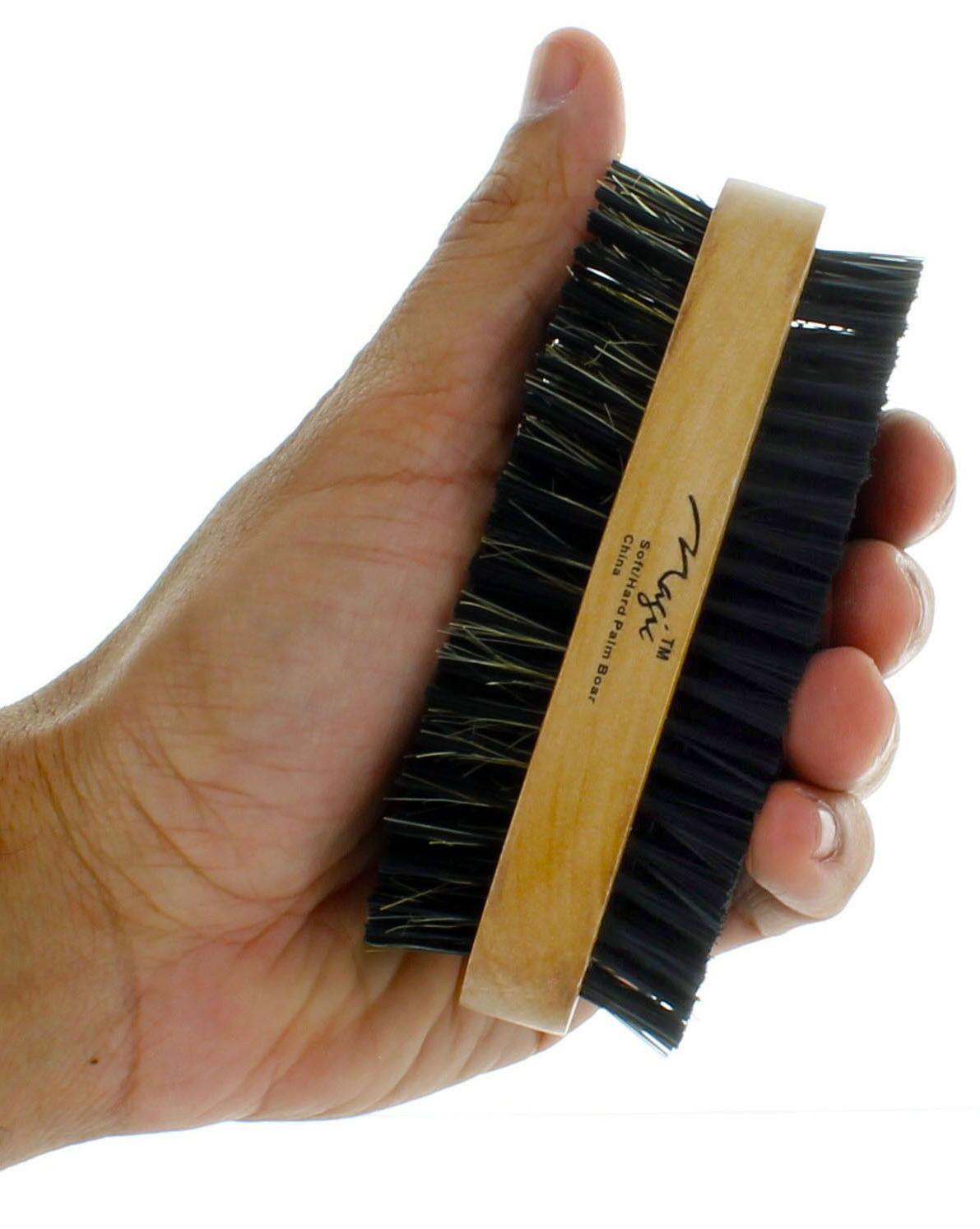 Men Bristle Beard Brush Handle New