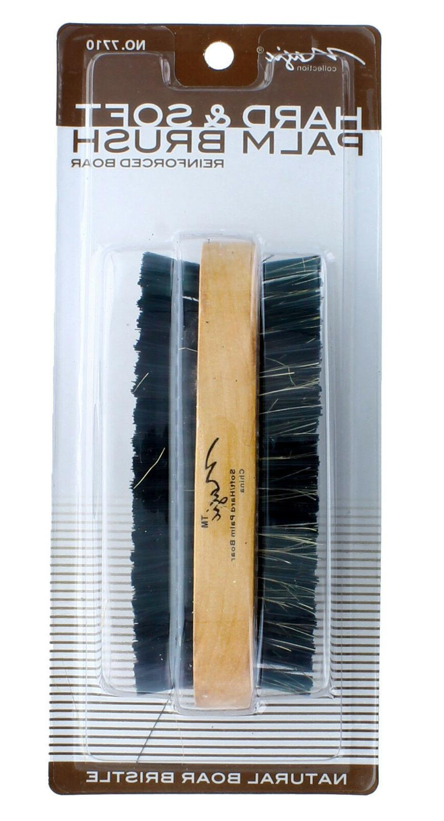 Men Boar Hair Bristle Beard Mustache Hard Palm Round