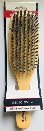 Boar/Nylon Medium to Oval Club, Wave For Hair Stimulating Scalp, Damage