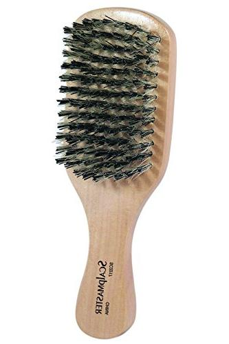 Scalpmaster of 3 Boar/Nylon Bristle Medium Firm Oval Palm, and For Hair Texture, Stimulating Damage