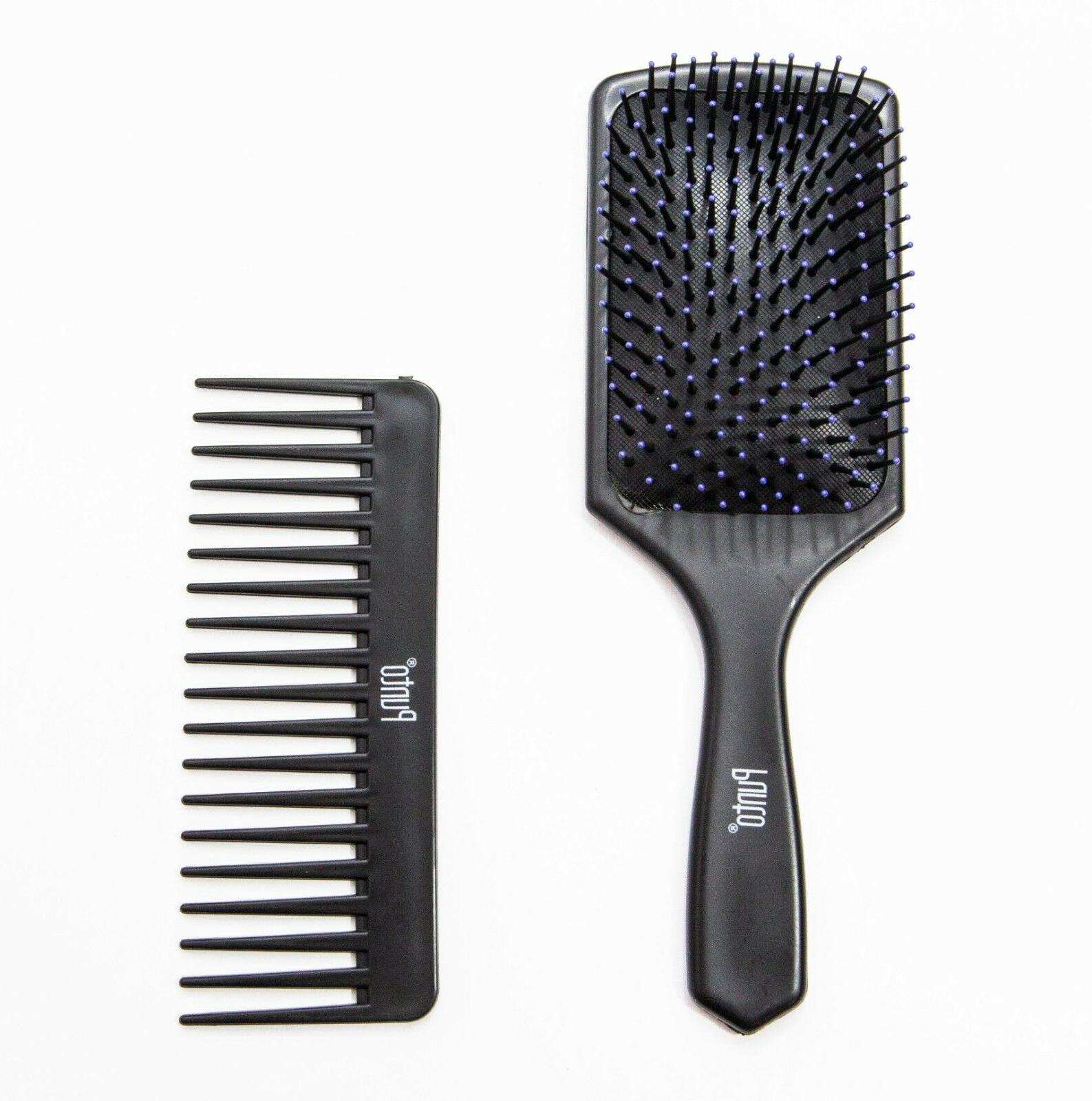 BRAND NEW PADDLE HAIR BRUSH WIDE COMB MASSAGE SCALP