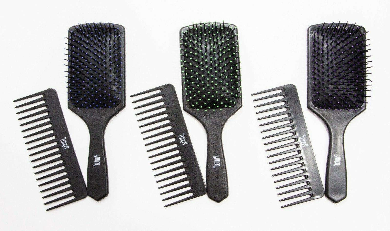 brand new pro soft paddle hair brush