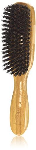 Brush - Deluxe Oval 100% Wild Boar Bristles Extra Firm Wood