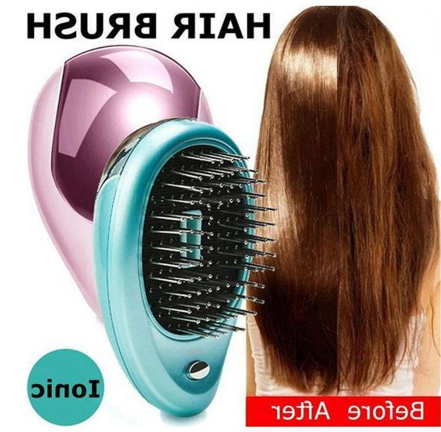 BUNDWAY Portable Ionic Hairbrush Ion Hair Brush