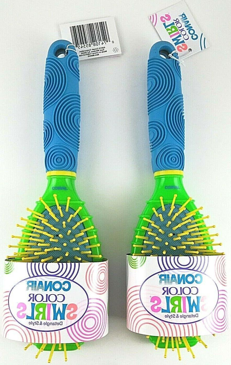 color swirls cushion brush detangle style hair