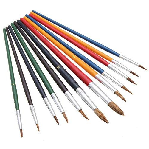 colorful wool hair paint brush