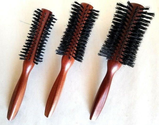 concavia boar bristles wood handle hair brush