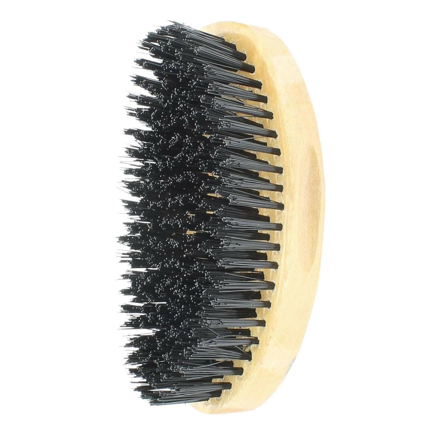 Curved Wave Hair Military Brush Wooden 00563