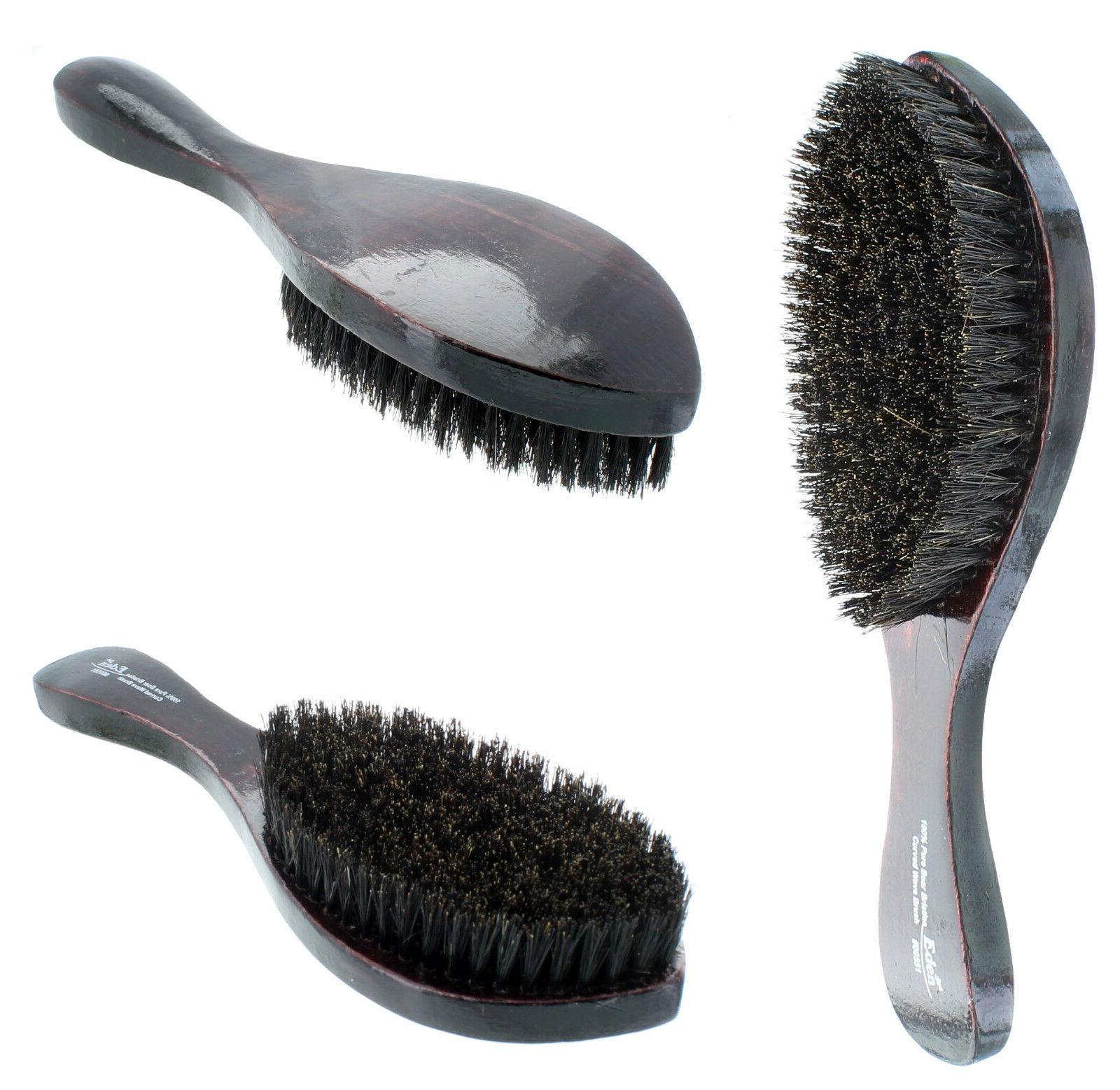 curved soft boar bristle wave hair brush