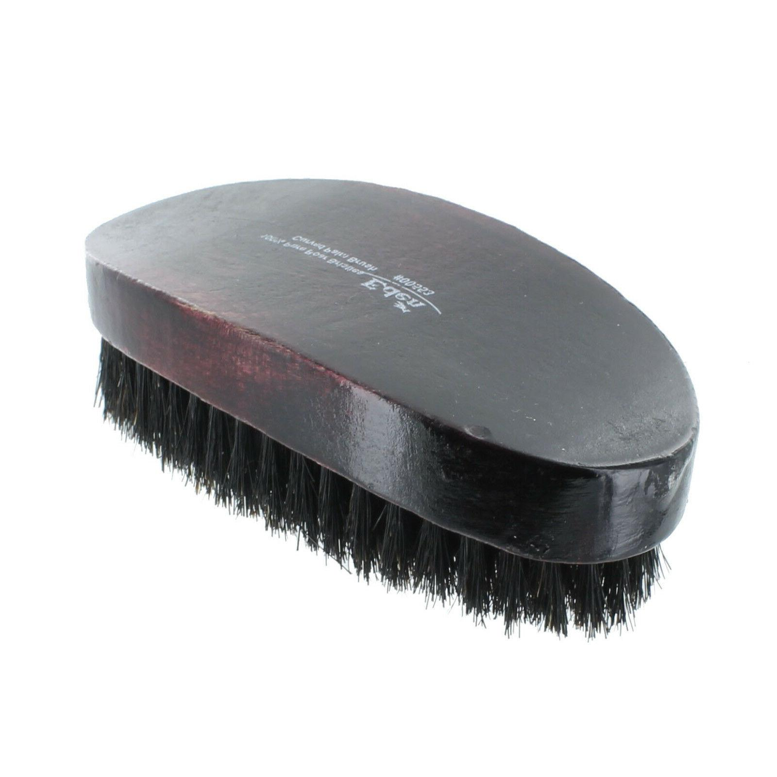 Curved Soft Boar Wave Hair Military Brush NEW
