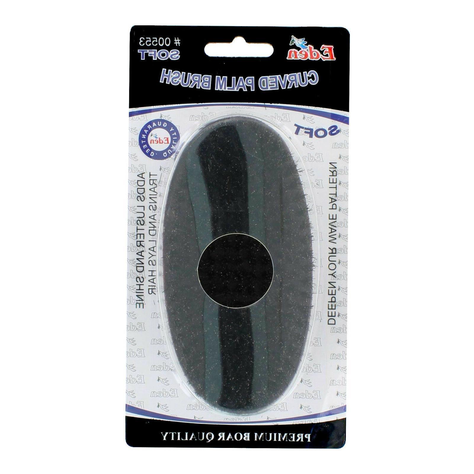 Curved Wave Hair Military Palm Brush NEW