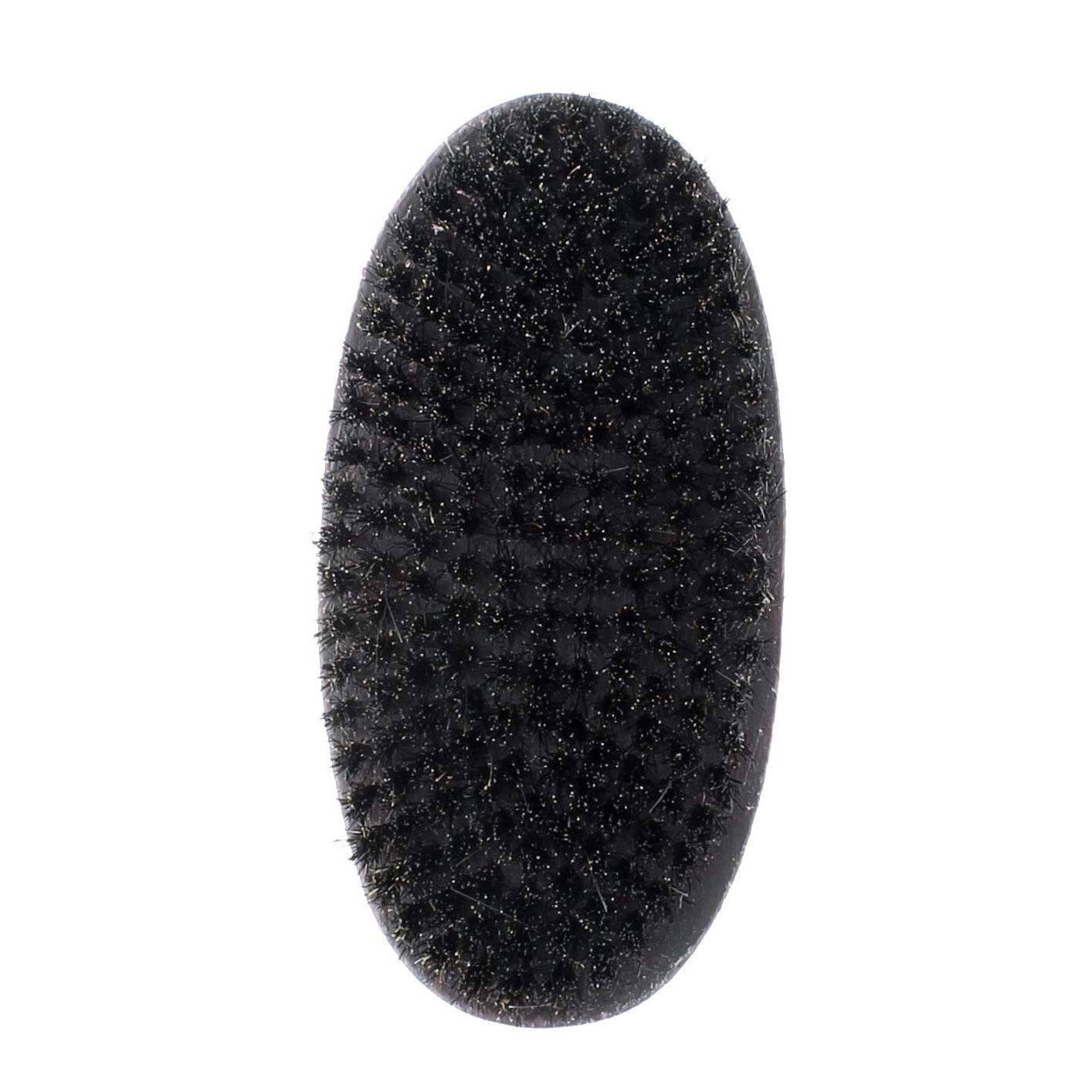 Curved Wave Military Brush Wooden