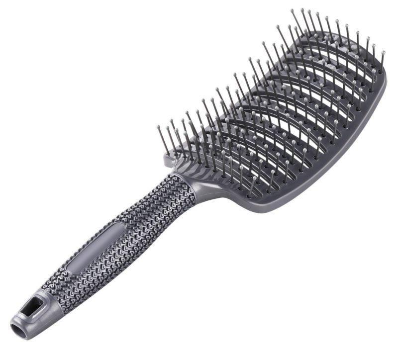 Curved Vent Blow Brush Nylon Pin Static