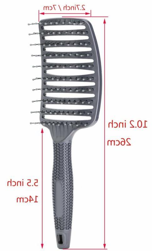 Curved Brush Barber Blow Nylon Detangling Static