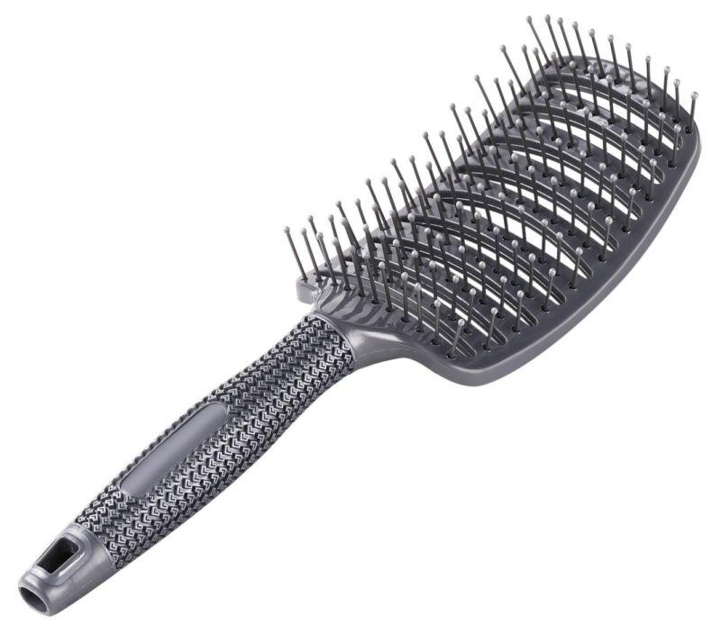 Curved Brush Blow Drying Nylon Anti Static