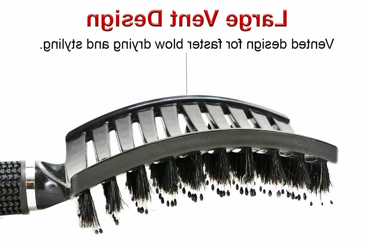 Curved Vented Bristle Styling Hair Brush, Any or Women
