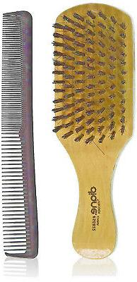 "Diane #SE822 Hard & Soft 1-sided club boar hair brush w/7"" c"