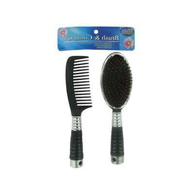be283 96 black plastic brush and comb