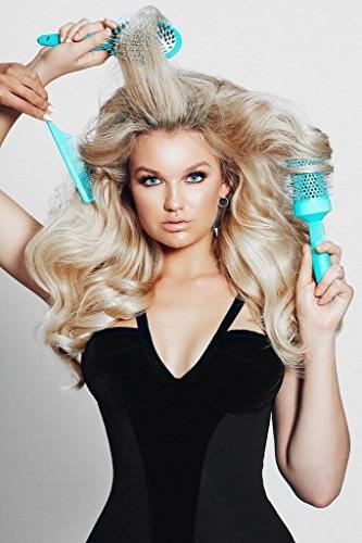 Leyla Hair Brush Miracle Human Hair Brushes for Sensitive Scalp, Detangling, Shine, Boar for