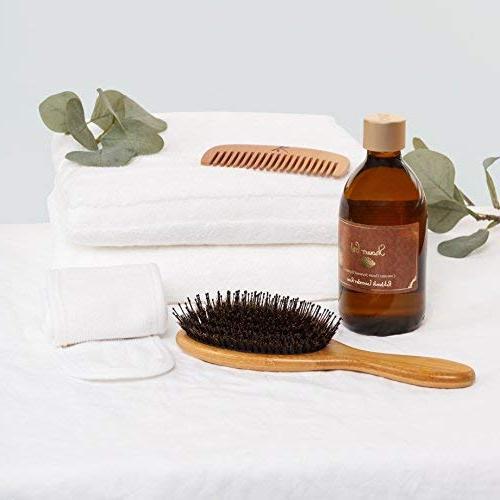 Detangling Boar Brush Women, Men And Hair. Detangles Shine And Texture Your Comb, Travel Bag & Headband