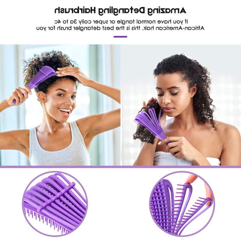 Detangling Hair Brush Natural Hair Comb Afr